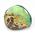 鉄鉱石の隙間に形成されたオパール層